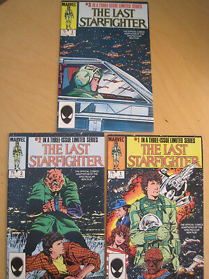 The LAST STARFIGHTER : COMPLETE 3 ISSUE 1984 MARVEL SERIES, ADAPTION of MOVIE