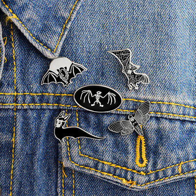 1512c148408 Gothic Pin Set Badge Creep Ghost Skeleton Goth Witch Brooch Lapel Pins Punk