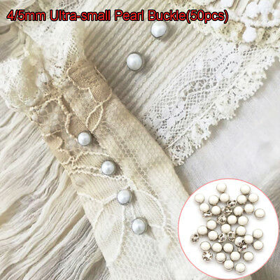 DIY Doll Clothes Mini Pearl Buttons  Bjd Blythe Pullip Clothing Sewing