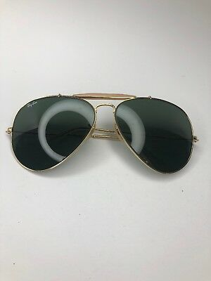 7158e5516a775 B L RAY BAN 62  14 Gold Aviator Vintage Sunglasses   Frames -  53.00 ...