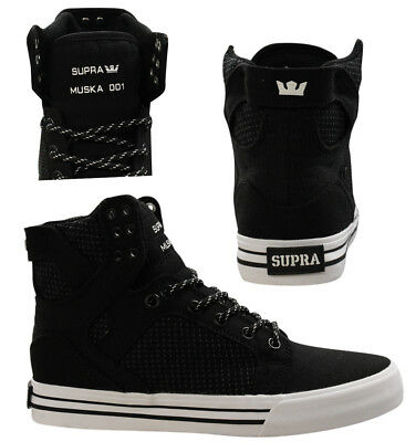 cf81c1ad9624 Supra Skytop High Top Lace Up Mens Trainers Casual Black 08002 094 D6