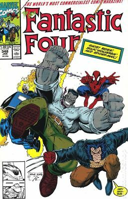 Fantastic Four (1st Series) #348 1991 FN Stock Image