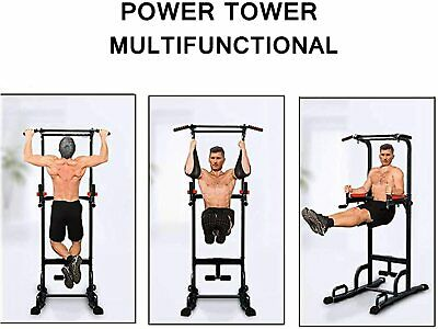 XN8 Pro Power Tower Dip AB Pull/Chin Up Bar Station Home Gym Fitness Leg Workout