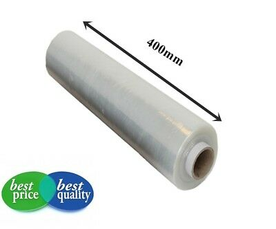 1x STRONG CLEAR PALLET STRETCH-SHRINK WRAP CAST PARCEL PACKING CLING FILM 400mm