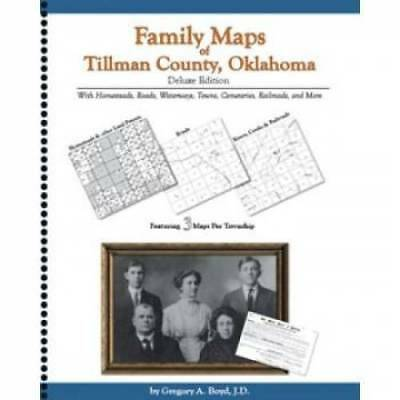 Genealogy Family Maps Cemetery Tillman County, Oklahoma OK