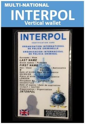 international ID collection..Multi-National..Vertical Wallet card...<<INTERPOL>>