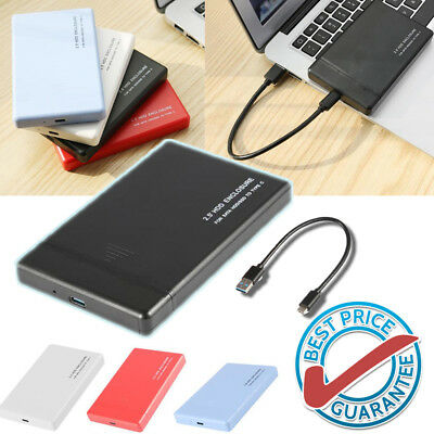 "USB 3.1 Type-C 2.5"" Hard Drive Enclosure SATA3 6Gbps HDD/SSD Case For Win10 R2V0"