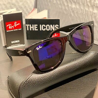 a1e31558bac ... sunglasses Lightray RB4224 650 6Q 49 Grey Silver Red Mirror AUTHENTIC.