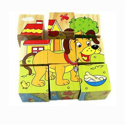 Kids Baby 3D Cartoon Animals Blocks Puzzle Toys Educational Wooden Jigsaw Z