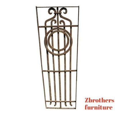 Antique Victorian Iron Gate Window Garden Fence Architectural Salvage Door #652