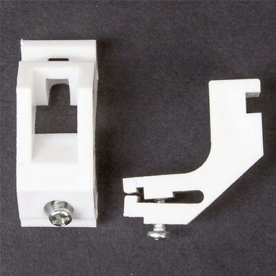 Strong CURTAIN RAIL TRACK BRACKET Fits Swish Drape White Plastic Extra Support