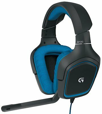 Logitech G430 Wired 7.1 Surround Sound Gaming Headset with Mic for PC Computer
