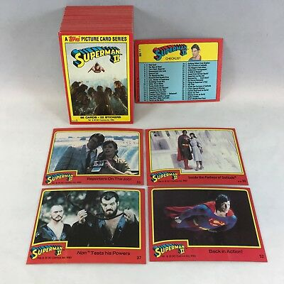 SUPERMAN II (Topps 1980) Complete Trading Card Set (#1-#88) CHRISTOPHER REEVE