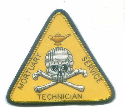 Coroner Mortuary Service Tech Technician Embalming Funeral Autopsy Death Patch D