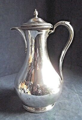 """SUPERB Large 10"""" ~ SILVER Plated ~BULBOUS Water / WINE JUG ~ c1890 ~ Martin Hall"""