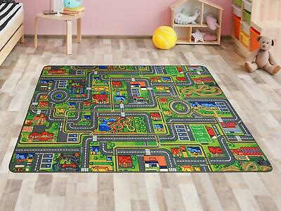 "Kids Rug ""Streets"" Children's Carpet Playmat Road Map"