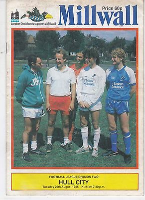Millwall Home Programmes  1986/87 Updated 15/4/2018
