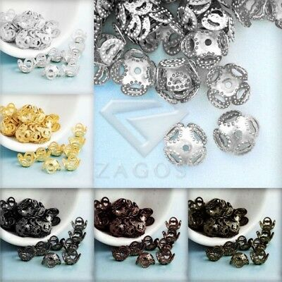 20g Crimp End Spacer Perles Bouchons Charm DIY Bijoux Findings Caps 8x8x5mm