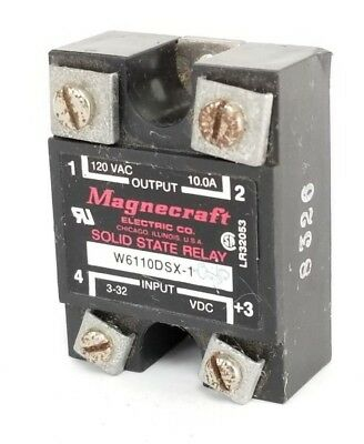 Magnecraft W6210Dsx-1 Solid State Relay 3-32Vdc, W6210Dsx1, 120Vac, 10A