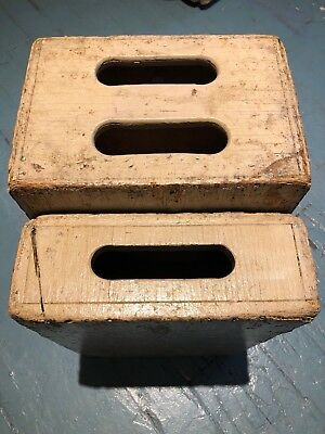 Wooden Apple Boxes x 2