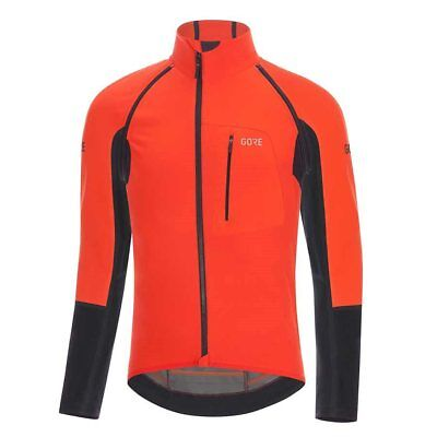 New Gore Bike Wear Men C7 GWS Pro Cycling Jacket Blaze Orange/Black Medium Large