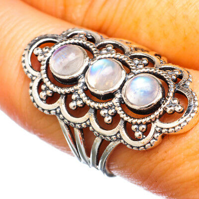 Rainbow Moonstone 925 Sterling Silver Ring Size 8.75 Ana Co Jewelry R925763F