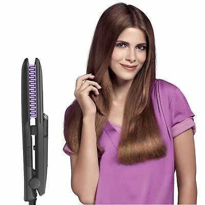 360° Ionic Hair Straightener Brush Professional Steam Flat Iron PTC Ceramic  YX