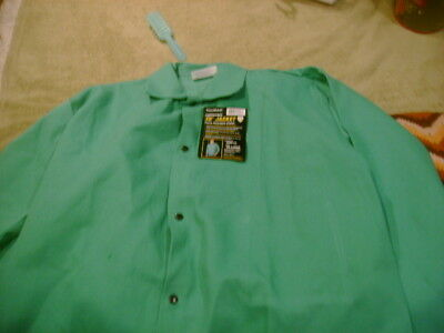 "Tillman 6230 30"" 9 oz. Green FR Cotton Welding Jacket 3X-Large NEW WITH TAGS NWT"
