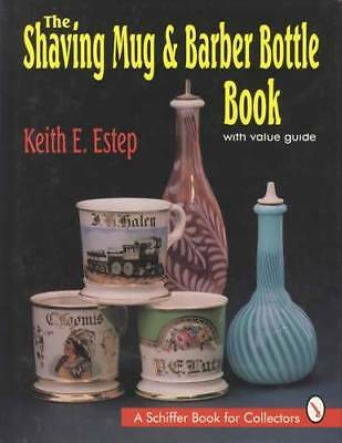 Shaving Mug Barber Bottle Book Vintage Barbershop ID$