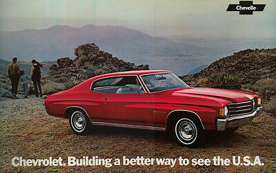 "Original Vintage 1972 Chevelle Factory Issued Sales Sheet/Poster 11""x18"""