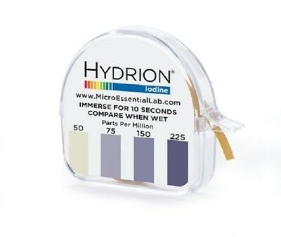 pH Hydrion Iodine Test Paper, Range: 50-225 PPM
