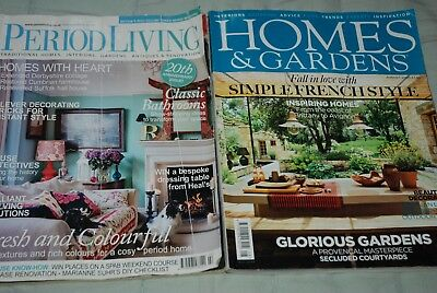 Vintage Magazines HOMES & GARDENS August 2009, PERIOD LIVING February 2010