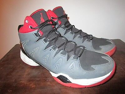 reputable site 2446a d73f2 NIKE Jordan Melo Anthracite Red Black White Men s Athletic SZ 10.5 629876 -002