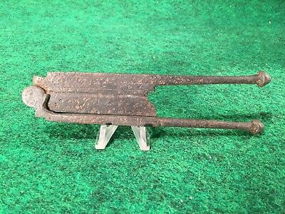 """Antique Decoraeted Metal Betel Nut Cutter From Thailand Southeast Asia 6 3/4"""" #D"""