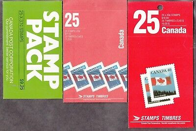 Canada - 3 Better Mint/nh Booklets - Face Alone 30.50=- See Scan!