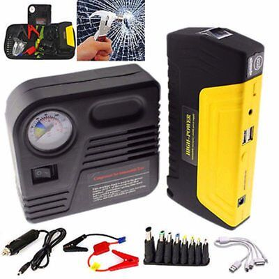 12V 68800mAh Portable Battery Jump Starter Air Compressor Car Booster Jumper X5