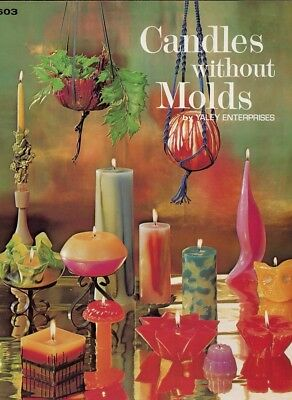 Candles Without Molds 36 Page Leaflet Instruction Water Sculpture, Free Form