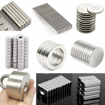 N52 Super Strong Round Cuboid Rare Earth Cylinder NdFeB Neodymium Magnet 1/3/5mm