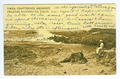 July 14 1915 YWCA Conference Grounds, Asilomar, Monterey, Calif Real Photo PM PC