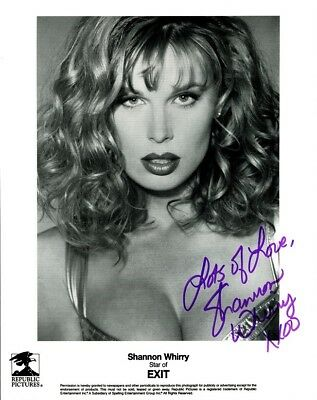 Sexy SHANNON WHIRRY Signed Photo
