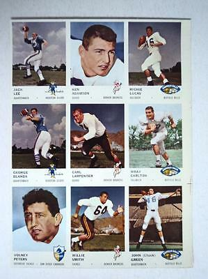 1961 Fleer Uncut sheet of 9 George Blanda  MINT * Pre Xmas CLOSEOUT