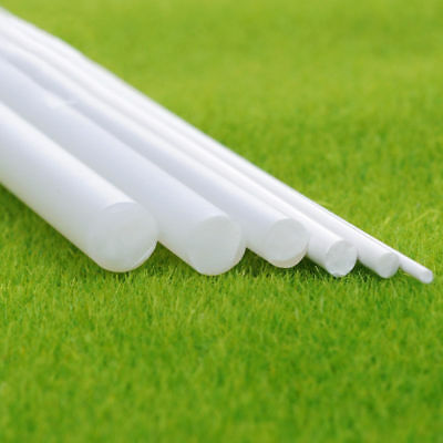 White ABS Plastic Rod Round Solid Bar DIY Model Material 250mmx1/2/3/5/10/15mm