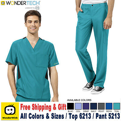 Wonderwink Scrubs Set Wonder Tech Herren Uniform Athletic Top & Hose (6213/5213)