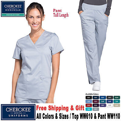 Cherokee Scrubs Satz Revolution Uniform Imitat Umhang Top Cargo-Hose (Ww610 /