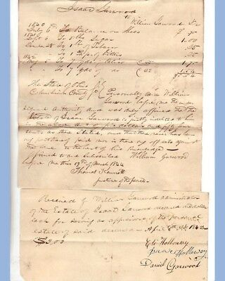 1840 antique 20pc EPHEMERA LOT ISAAC GARWOOD columbiana oh handwritten