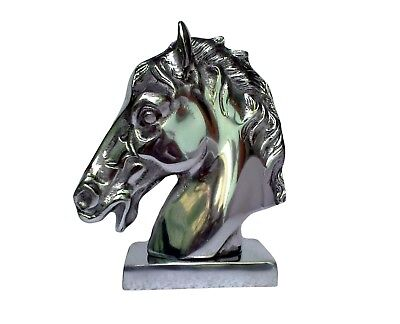 Metal Horse Head 9 inches Polished Figurine Sculpture Statue