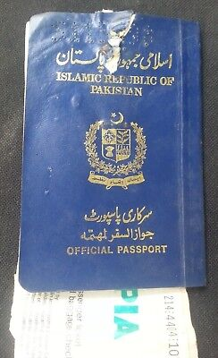 1994 Pakistan Official Service Passport With Pia Air Ticket