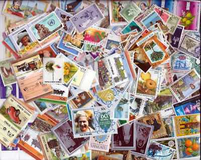 British Pacific Islands Stamp Collection - 500 Different Stamps
