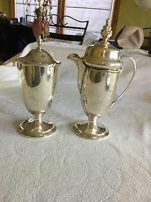 Antique Strawberries And Cream Silver Set