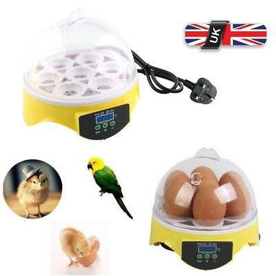 Digital Automatic 7 Egg Incubator Chicken Duck Hatch Hatcher Temperature Xmas